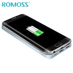 MyXL Originele  Draadloze Power Bank 5000 mAh Telefoon Oplader Externe Powerbank Accu Backup Power Lading voor Samsung <br />  ROMOSS