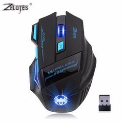 MyXL Professionele Draadloze Muis Gaming Muis Optische 2400 DPI 2.4G Computer Mouse LED 7 toetsen Gaming Muizen Voor Pro Gamer<br />  ZELOTES