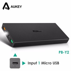 MyXL Originele  16000 mAh Power bank QC 2.0 Snelle Opladen 2 USB-poorten Powerbank voor iPhone/Xiaomi/HTC/Samsung/Nexus met Type C <br />  AUKEY