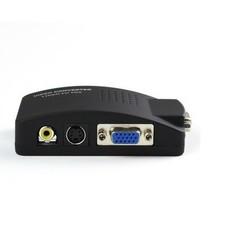 MyXL S-video composiet rca av naar vga converter met usb power supply voor tv naar pc converter (vga kabel is niet inbegrepen) <br />  Playvision