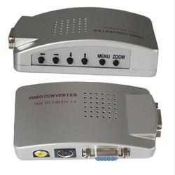 MyXL PC Laptop VGA naar RCA TV Monitor S-video Signaal Adapter Converter Switch Box jn5 <br />  wiistar