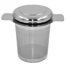 MyXL Herbruikbare Rvs Thee-ei Mand Fijne Mesh Theezeefje met 2 Handgrepen Deksel Thee en Koffie Filters voor Losse Thee Blad <br />  HOUSEEN