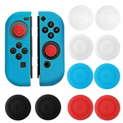 MyXL 5 Paar Zachte Siliconen Antislip Thumb Stick Grips Caps Case Skin Cover voor Links Rechts Nintendo Schakelaar NS NX Controller <br />  Bevigac