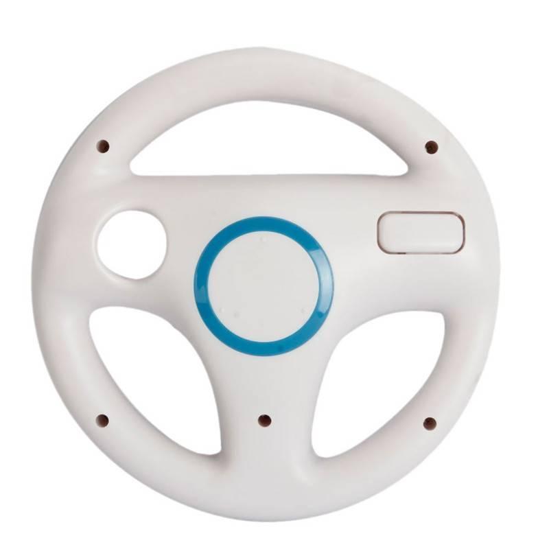 Wit Plastic Stuurwiel Voor Nintendo voor Wii Mario Kart Racing Games Remote Controller Console  Shir