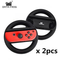 MyXL 2 Stks Racing Game Stuurwiel Voor Nintend Schakelaar Remote Roer Game Wielen Voor Nintendo Schakelaar NS Controller <br />  DATA FROG