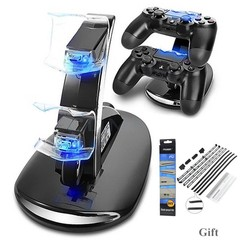 MyXL Dual Controllers Charger Charging Dock Stand Station Voor Sony PlayStation 4 PS4 PS 4 Game Gaming Draadloze Controller Console <br />  OIVO