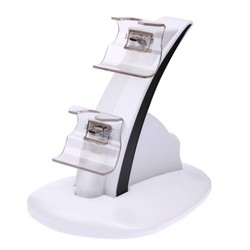 MyXL Dual USB Opladen Lader Dock Stand Cradle Docking Station voor XBOX EEN Spel Gaming Console Controller Wit Kleur <br />  ALLOYSEED