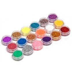 MyXL 18 Kleuren/set Nail Art acryl Glitter Nail Art Tool Kit Acryl UV Powder Dust gem Nagellak Gereedschap, Nail Art Tip Decoratie <br />  YKS