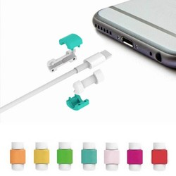 MyXL 100 stks/partij USB Datakabel Oortelefoon Protector Kleurrijke Oortelefoon Cover Voor Apple iPhone 4 5 5 s 6 6 s Plus Voor Samsung HTCIMPETUS<br />  New IMPETUS