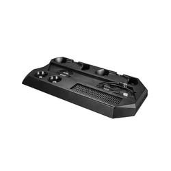 MyXL Multifunctionele PS4 Pro Koelventilator 2 Koelers Verticale Standhouder Dual Controller Charger 3.0 USB HUB DC Plug Voor PS4 Pro PS VR <br />  GAOCHENG