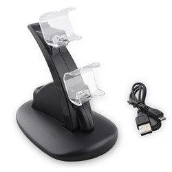 MyXL Dual USB Opladen Lader Dock Stand voor Sony Playstation 4 PS4/PS4 Pro/PS4 Slim Controller <br />  SPAYPS