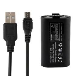 MyXL Hoge kwaliteitoplaadbare 1400 mah batterij met usb-kabel voor xbox one wireless controller vervanging batterij kits <br />  ShirLin