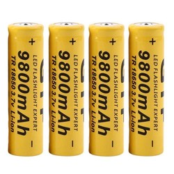 MyXL 4 stks/partij9800 mAh 3.7 V 18650 Lithium ion batterijen Oplaadbare Batterij Voor Zaklamp Zaklamp<br />  MyXL