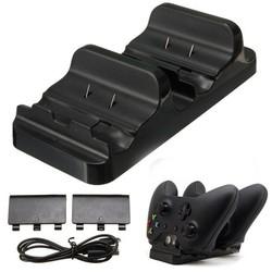 MyXL Gloed1x Dual Charger 2x Dock Batterij 1x USB Oplaadkabel voor XBOX EEN Draadloze Controller <br />  ShirLin