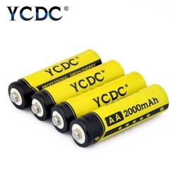 MyXL 4 Stks AA Oplaadbare Batterij 2000 mAh Voor Lader 1.2 V Mh zaklamp Oplaadbare Batterijen Met batery Doos <br />  YCDC