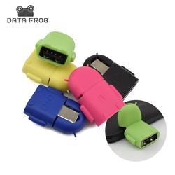MyXL Multi Kleur Micro USB OTG Adapter Connector Voor Android Smartphones voor Laptop Knuffel Converterstijl En Mini OTG <br />  DATA FROG