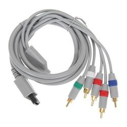 MyXL 1.8 m 1080 P Component Game Kabel voor Wii HDTV Audio Video AV 5 RCA Game Adapter Audio Video Kabel voor Nintendo Wii Grijs <br />  ALLOYSEED