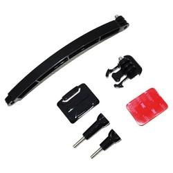 MyXL Sport Action Camera Accessoires Mount Motorcycle Fietshelm Verlengarm + Gesp + Sticker voor GoPro Hero 4 3 3 + SJ5000 yi <br />  SHOOT