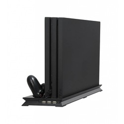 MyXL PS4 PRO Ultradunne Opladen Koellichaam Koelventilator Verticale Stand Dual Controllers Opladen Dock USB 3 Hub voor Playstation 4 Pro <br />  GAOCHENG