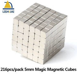 MyXL 216 stks/pak 5*5*5mm Magic Magnetische Blokjes/Sterke NdFeB DIY Buck Cubes/Neo Cubes puzzel Magneten <br />  LISHUAI