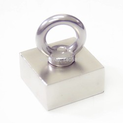 MyXL Super Krachtige Sterke Zeldzame Aarde blok gat magneet Neodymium N50 Magneten F50 * 50*25mm (45x45x21mm) <br />  OIAHS