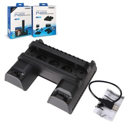 MyXL Voor PS4 Serie Verticall stand Multifunctionele Cooling Pad Cooling Dock Stand met Usb-kabel voor PS4/PS4 Slim/PS4 Pro console <br />  ALLOYSEED