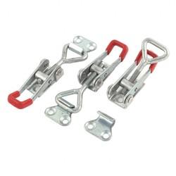 MyXL WSFSKoop 3 STKS Toolbox Case Metal Toggle Klink Catch Sluiting 9.5 cm Lengte Zilver + Rood <br />  WOLFHEAD