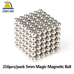 MyXL 216 stks/pak 5mm Magic Magnetische Bal/Sterke NdFeB DIY Buck Ballen/Neo Cubes Puzzel Magneten <br />  LISHUAI