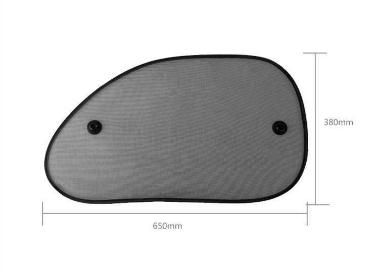2 stks 65*38 Zwart Side Auto Zonnescherm Rear Window Zonnescherm Cover Mesh Vizier Shield Screen Zon