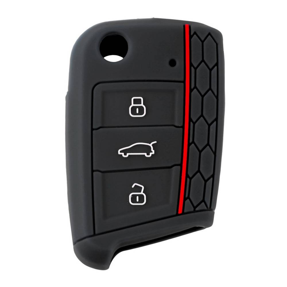 Auto Accessoires Key Geval Sleutel Tas Cover Volkswagen voor VW Golf 7 mk7 voor Skoda Octavia A7 Sil