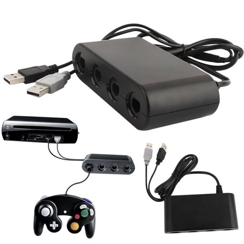 WiiU Gamecube Controller Adapter voor 4 Controllers