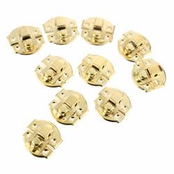 MyXL 10 stks antieke gouden doos hasps iron lock vangst vergrendelingen voor sieraden borst box koffer gesp clip sluiting vintage hardware 27*29mm