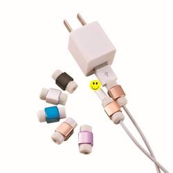 MyXL 20 stks/partij Goud Verzilveren Usb-laadkabel Protector Kleurrijke Oortelefoon USB Datakabel Cover Voor iPhone 7 6 s 6 5 5 s
