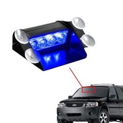 MyXL CYAAN BODEM BAY Blauw 4 LED Auto Emergency Waarschuwing Dashboard Dash Vizier Politie Strobe Lights 4LED Lamp
