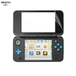 MyXL 2 Set Clear Anti-kras Top + Bottom LCD Screen Protector Voor2DS XL LL Protectors Film Voor 2DS XL LL Console
