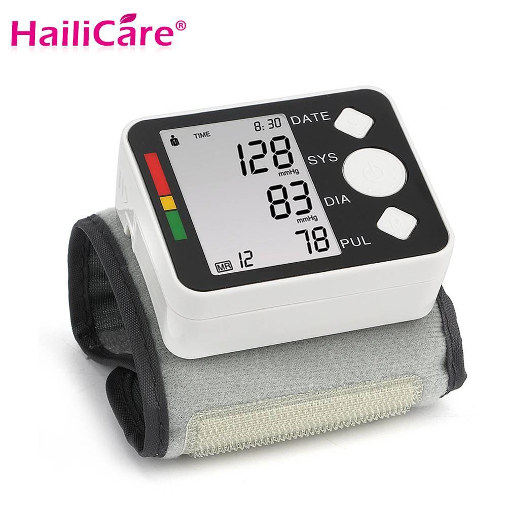 Pols Bloeddrukmeter LCD Digitale Meter Manchet Meting Tonometer Bloeddrukmeter Pulsometros Tensiomet