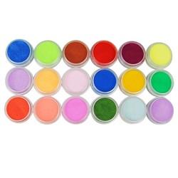 MyXL 18 Stks Mix Kleuren Acryl Poeder Stof Decoratie Set voor Valse Tips Manicure Nail Art Acryl Poeder Voor Nail
