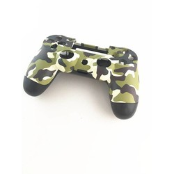 MyXL Een set Case Voor + back Bovenste Onder Shell Behuizing Cover voor Sony PS4 DualShock 4 Controller Groen Camouflage (US/HK Versie)