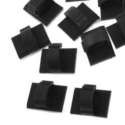 MyXL Promotie10 Stks Rechthoek zelfklevende 10mm Kabelbinder Mount Clips Zwart