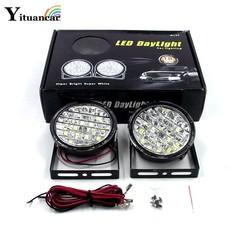 MyXL Yituancar 2 Stks/set 2X18 LEDs 18 W Auto Mistlamp LED DRL Dagrijverlichting E4 Auto-Styling Bron Voor Motorfiets 4X4 4WD SUV