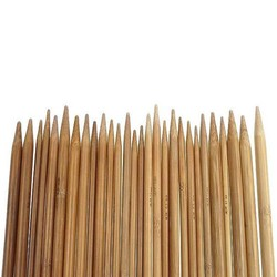 MyXL 75 stks/set 15 Maten 20 cm Dubbele Wees Verkoolde Bamboe Breinaalden Trui Breien Bamboe Handvat Smooth Craft Naald