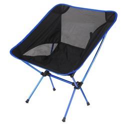 MyXL Klapstoel Strand Seat Lichtgewicht Seat Voor Wandelen Vissen Picknick Barbecue Voor Vocation Casual Camping Vissen Diepblauwe