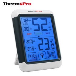 MyXL ThermoPro TP-55 Digitale Hygrometer Indoor Thermometer Temperatuur Vochtigheid Gauge met Jumbo Touchscreen en Backlight Monitor