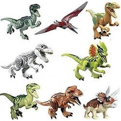 MyXL 8 stks/partij dinosaurussen van jurassic figuur world film speelgoed diy bouwstenen sets model speelgoed kids geschenken