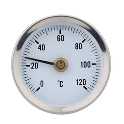 MyXL 0-120C Bimetaal Rvs Oppervlak Pijp Thermometer Clip-op Temperatuurmeter met Lente