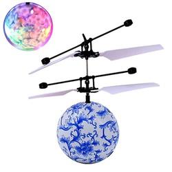 MyXL Blauw RC Vliegende Bal Drone Helicopter Bal Ingebouwde Shining LED Verlichting voor Kids Tieners Afstandsbediening Vlucht Speelgoed Voor Jongen