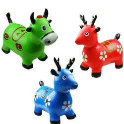 MyXL Kids Animal Bouncy Speelgoed Met Opblaasbare Springen Dier Out-deur Sport Ritten Op Dier Verbeteren Springen Willekeurige Levering