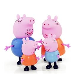 MyXL 4 stks/set Peppa pig Familie Pack Dad Mom George Action Figure Anime Speelgoed Set Cadeau Voor Kinderen Kerstcadeau