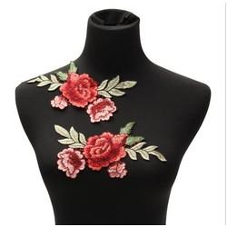 MyXL 2 Stks Borduurwerk Rose Bloem Naaien Patch Badge Tas Jeans Jurk Applique Craft