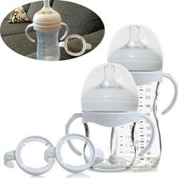 MyXL 1 ST Zuigfles Grip Handvat voor Avent Natuurlijke Brede Mond PP Glas Melk fles Babyvoeding Veiligheid Gates wit